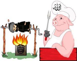Koran.Moslem.Schwein.Grill